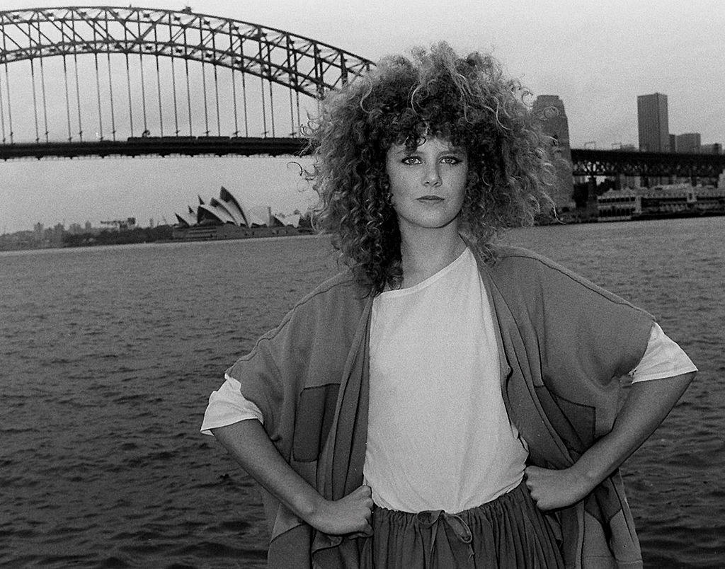 """Nicole Kidman pictured during a photo session to promote the movie """"BMX Bandits"""" in Decmber 1983"""