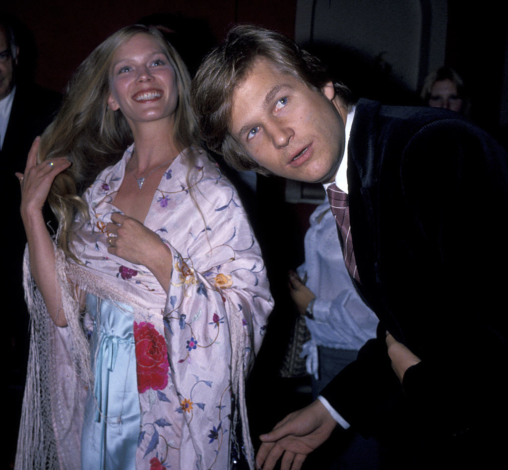 """Jeff Bridges and wife Suzie Bridges attends the premiere of """"Somebody Killed Her Husband"""" on September 25, 1978"""
