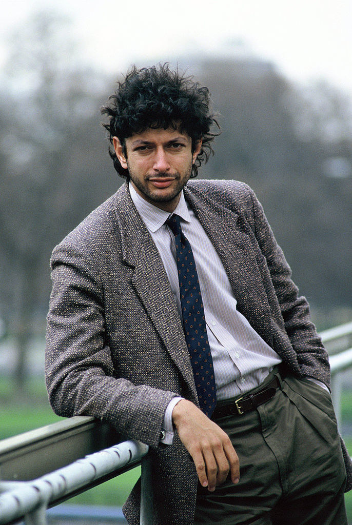 Jeff Goldblum poses on set during filming of 'Into The Night'