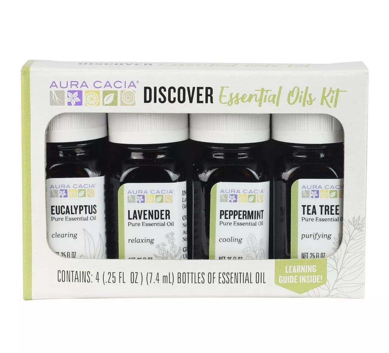 Kit with four essential oils