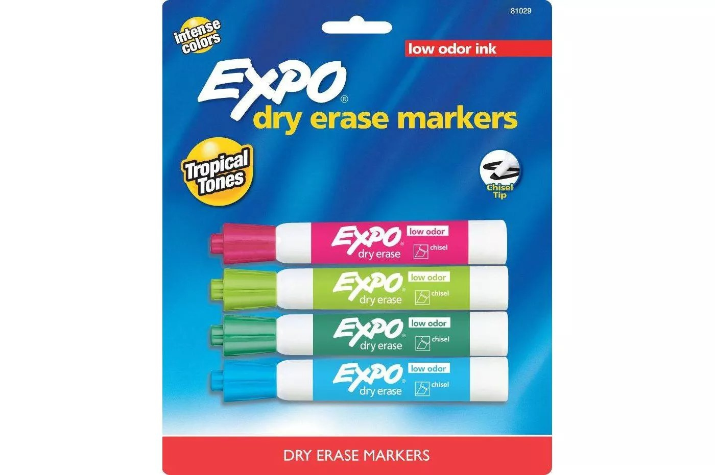 Pack of multicolor expo markers