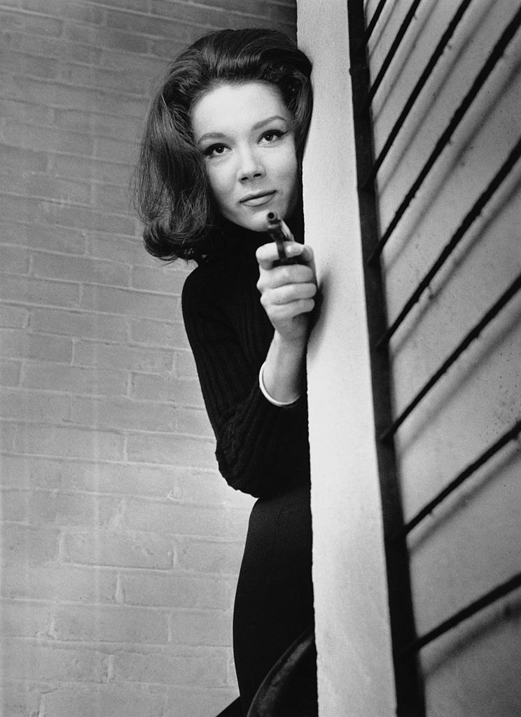 Diana Rigg as Emma Peel in the television series 'The Avengers', 14th December 1964.