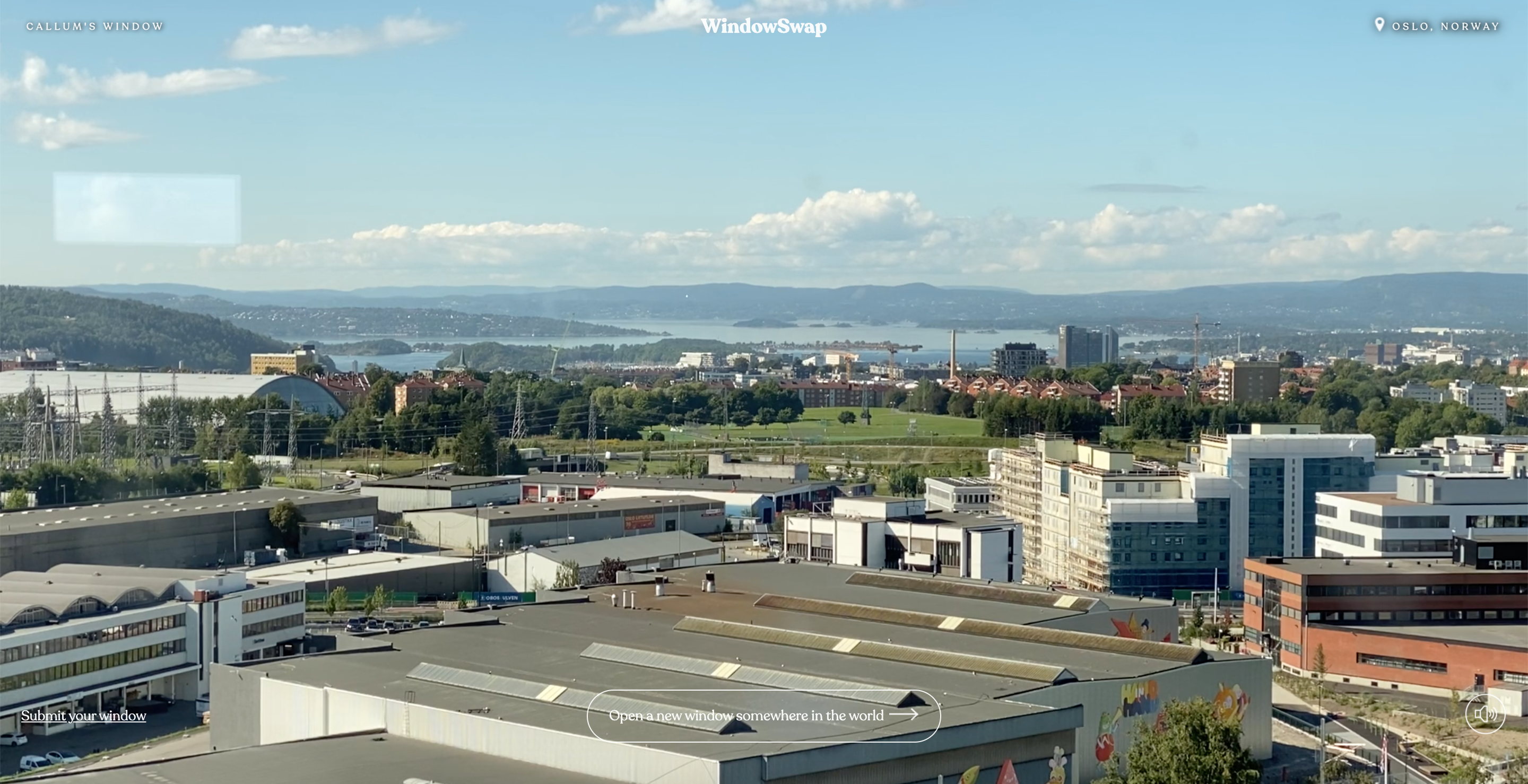 A window view in Oslo, Norway