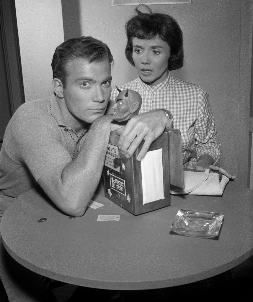 """William Shatner as Don Carter and Patricia Breslin as Pat Carter in """"Nick of Time"""""""