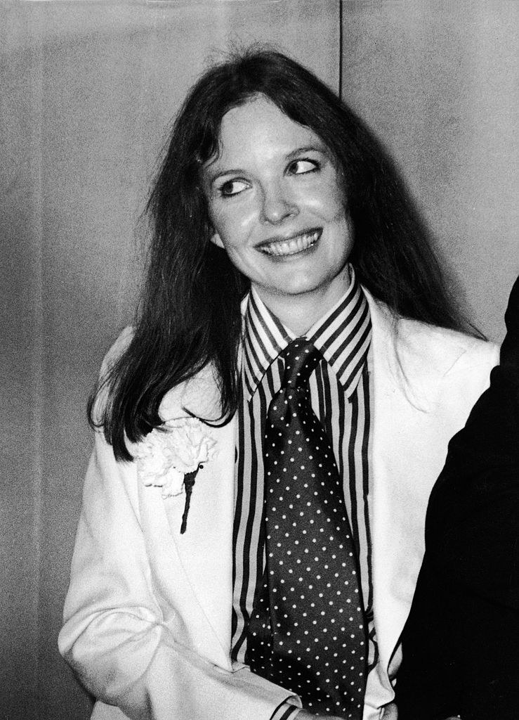 Diane in a big tie in the 70s