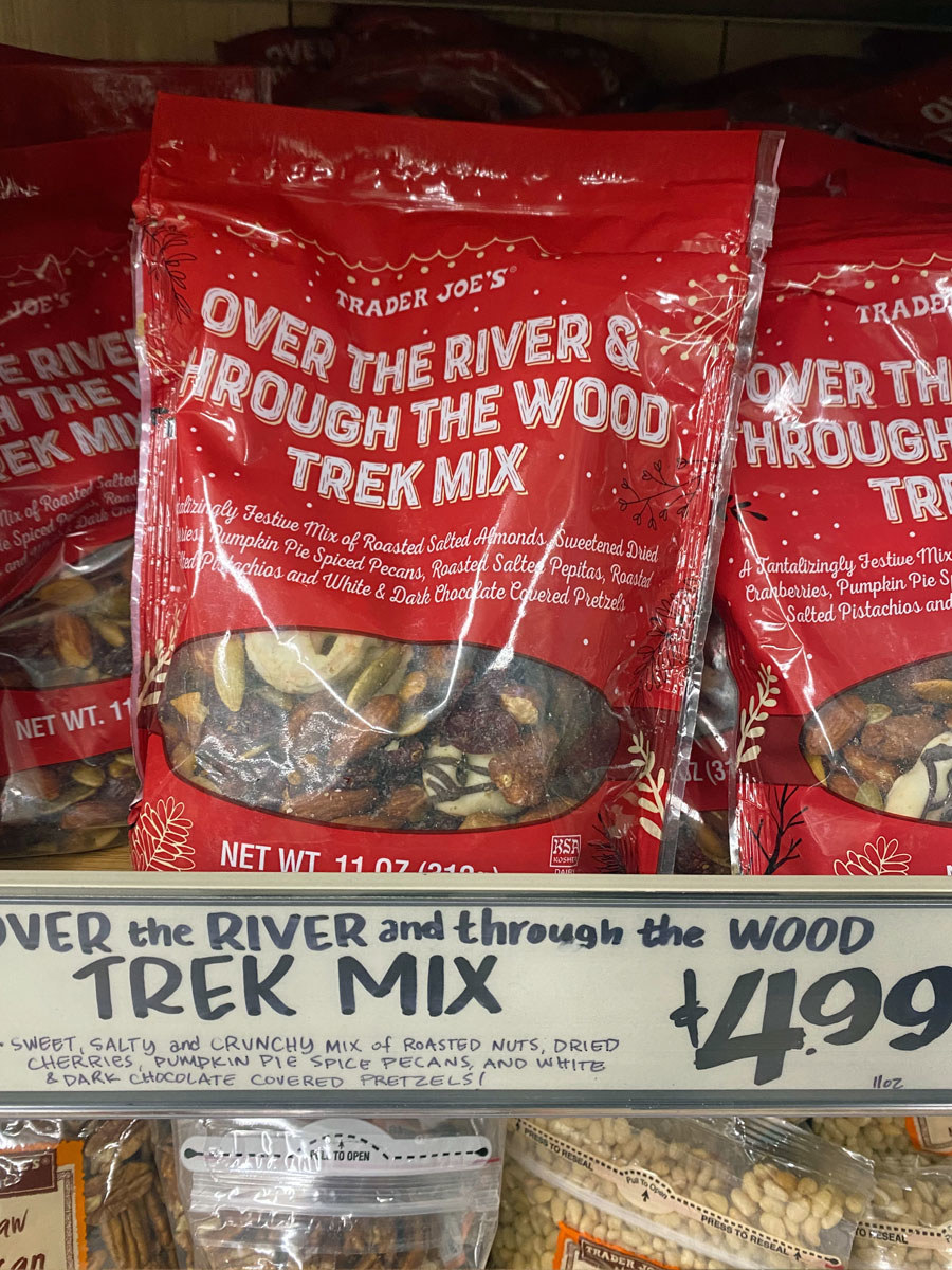 Several bags of Over The River & Through The Wood Trek Mix.