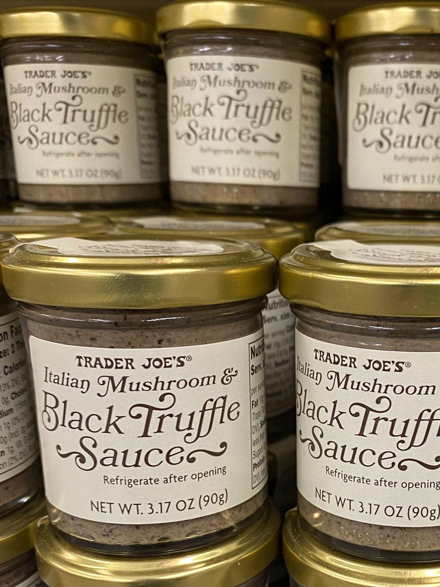 Bottles of Italian Mushroom & Black Truffle Sauce.