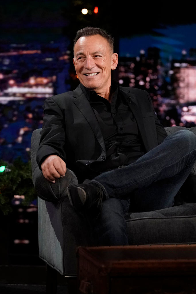 bruce on a late night talk show