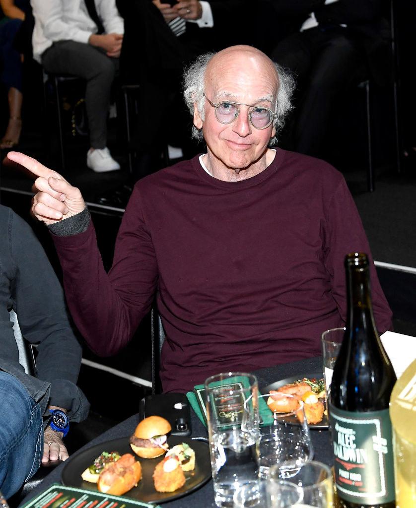 larry david at an award show table