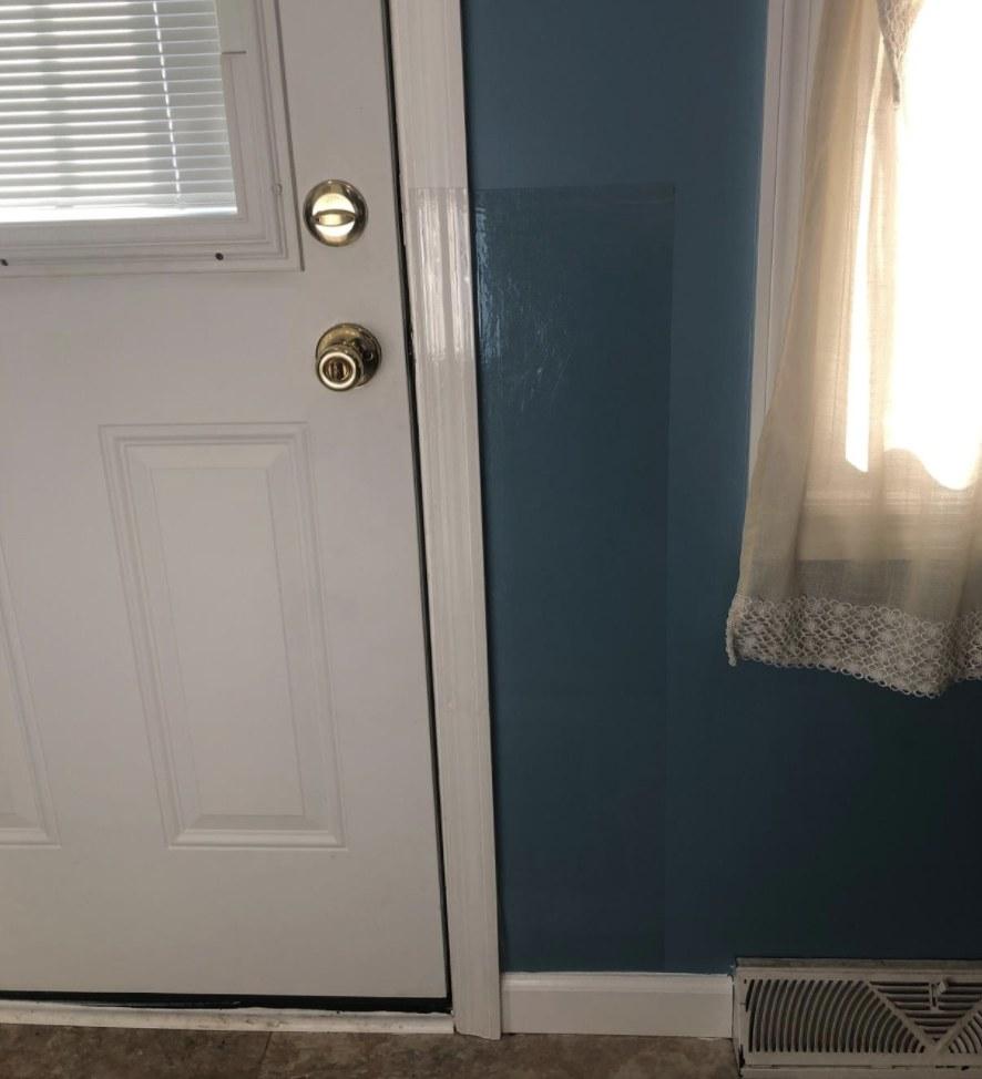 The door protector installed