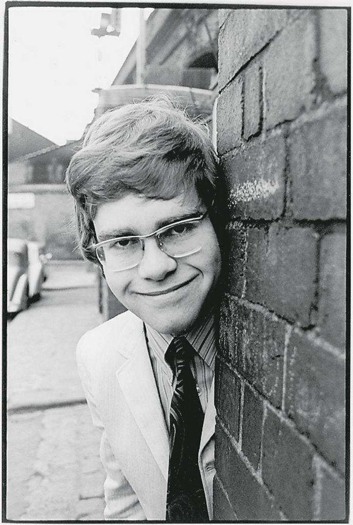 Elton in a tie