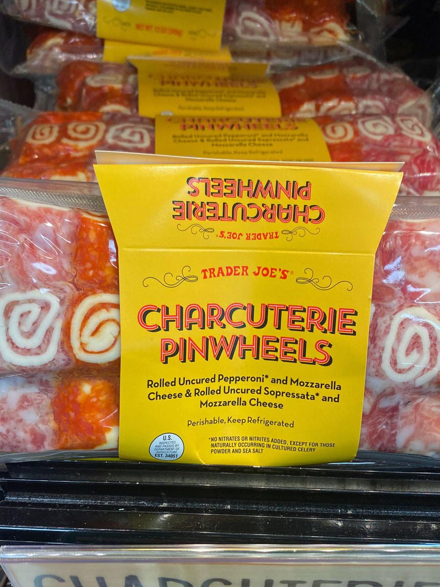 A bag of charcuterie pinwheels from Trader Joe's.