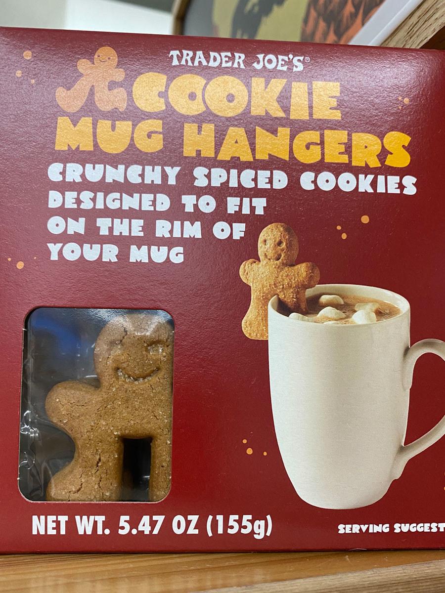 A box of Trader Joe's Cookie Mug Hangers.