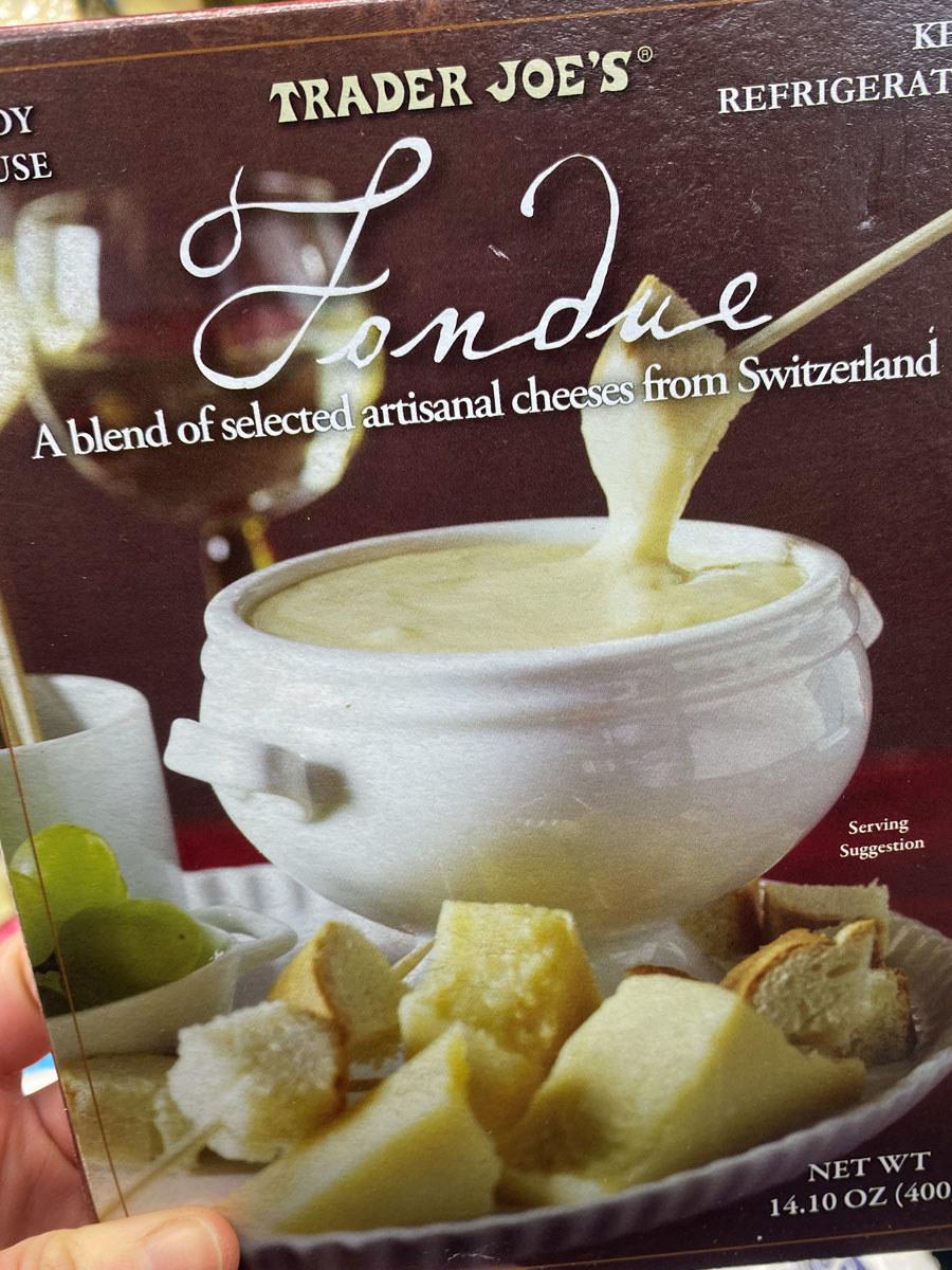 A box of Trader Joe's fondue.