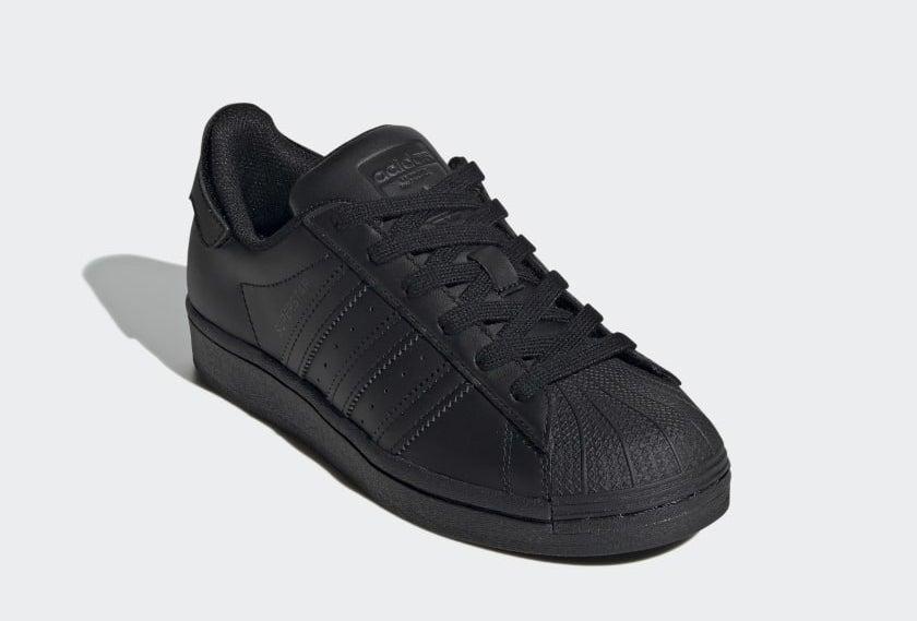 The monochrome black superstar sneaker