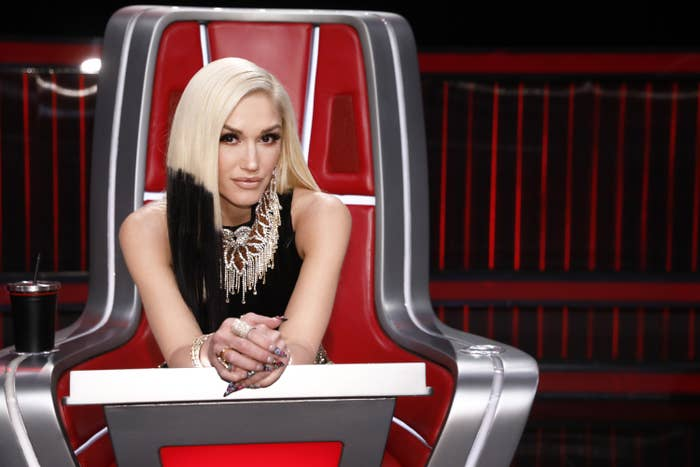 """THE VOICE -- """"Live Top 9 Results"""" Episode 1913B -- Pictured: Gwen Stefani"""