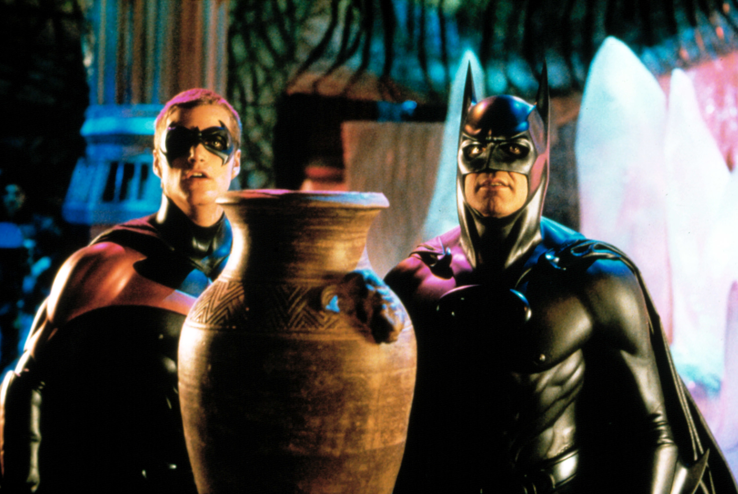 BATMAN AND ROBIN, Chris O'Donnell, George Clooney, 1997