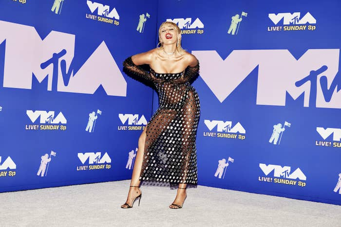 Miley Cyrus attends the 2020 MTV Video Music Awards, broadcast on Sunday, August 30, 2020 in New York City