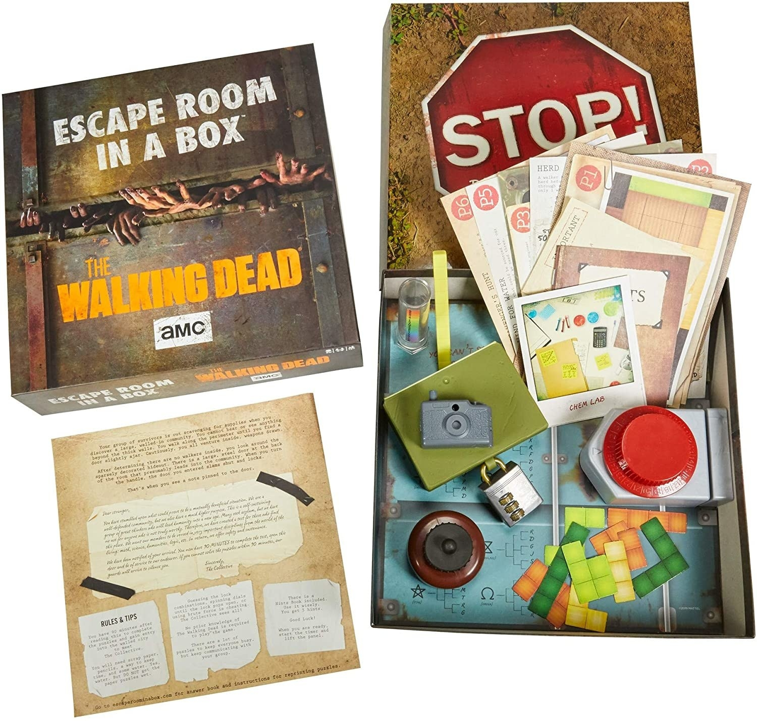 The Walking Dead escape the room board game