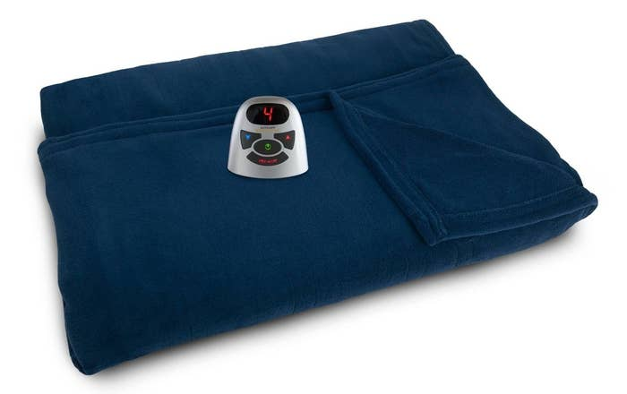 The heated fleece blanket