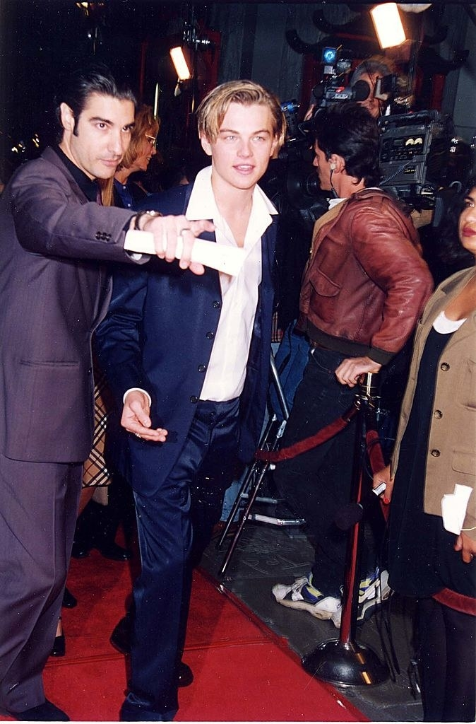 Leo with gelled hair