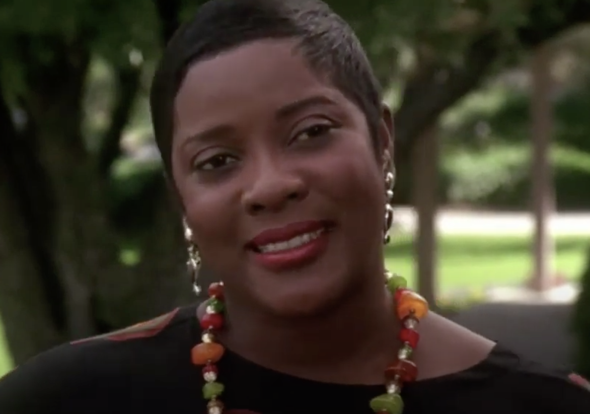 "Gloria from ""Waiting to Exhale"" introducing herself to her new neighbor across the street"