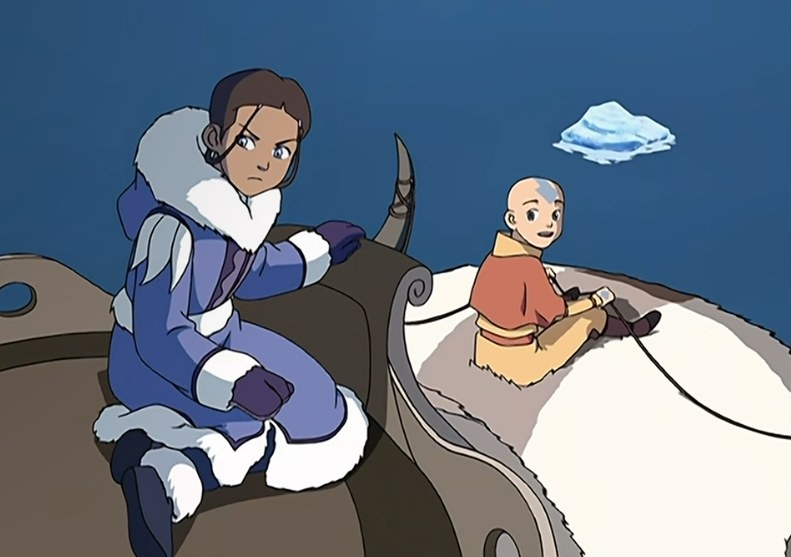 Aang with Katara on a journey