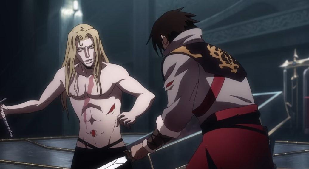 Alucard battles Trevor