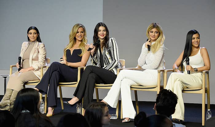 Kim, Khloe, and Kourtney Kardashian and Kendall and Kylie Jenner