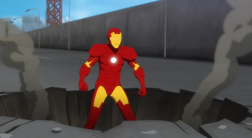 Iron Man recovers after an attack