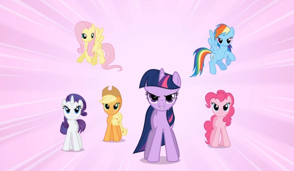 Several ponies standing at the ready