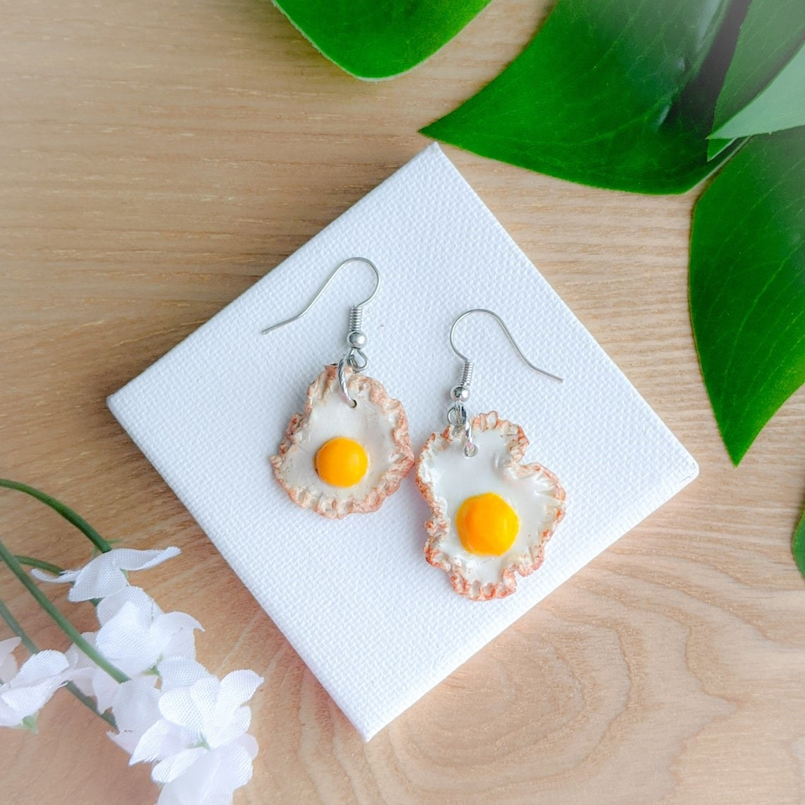 hanging egg earrings
