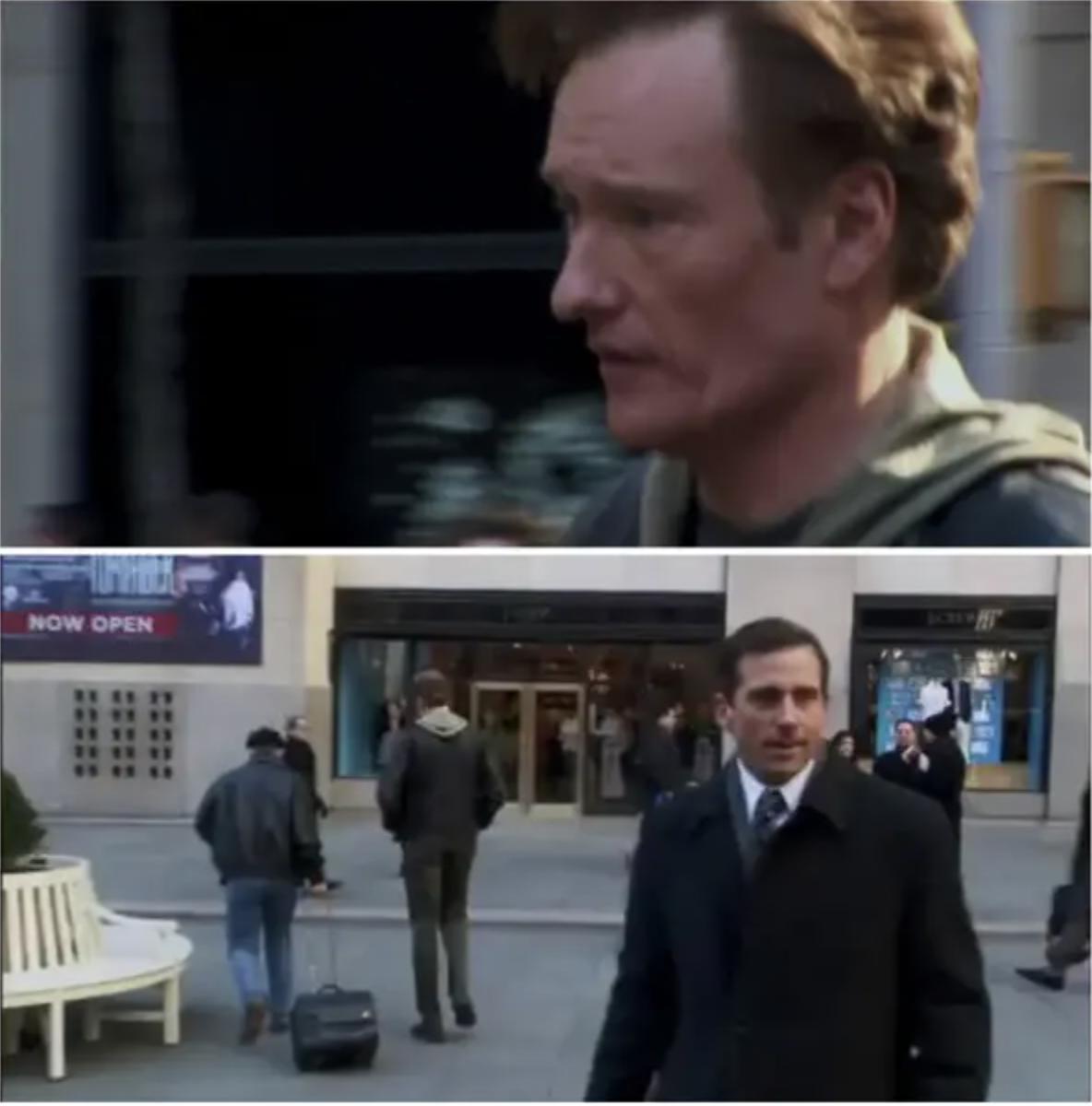 Conan walks past Michael Scott who doesn't notice