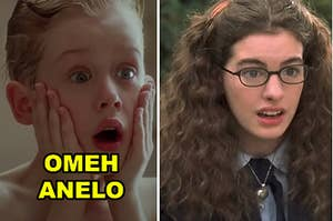 """Side-by-sides of stills from """"Home Alone,"""" """"The Princess Diaries,"""" and """"West Side Story"""""""