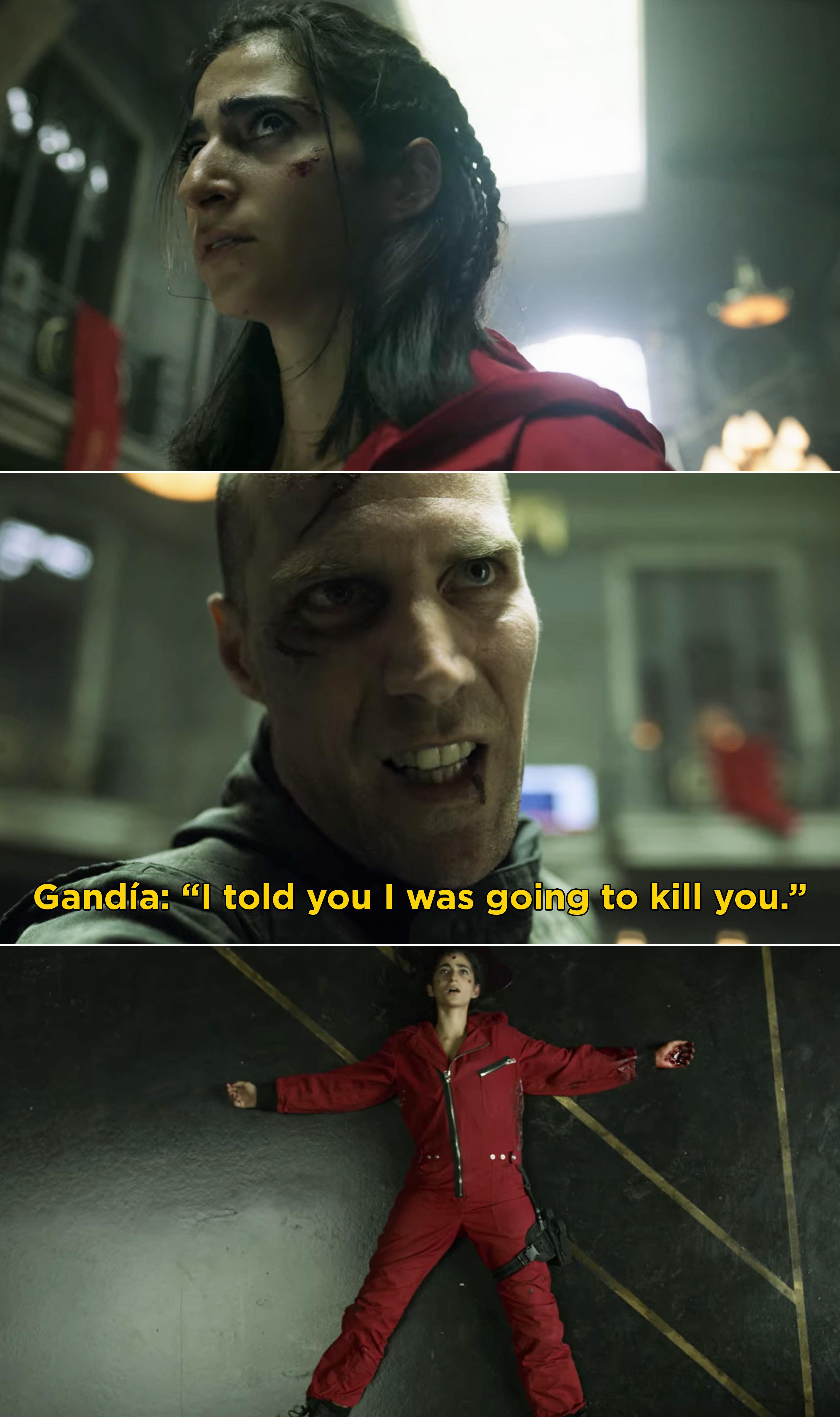 "Gandia saying, ""I told you I was going to kill you"" and then shooting Nairobi"
