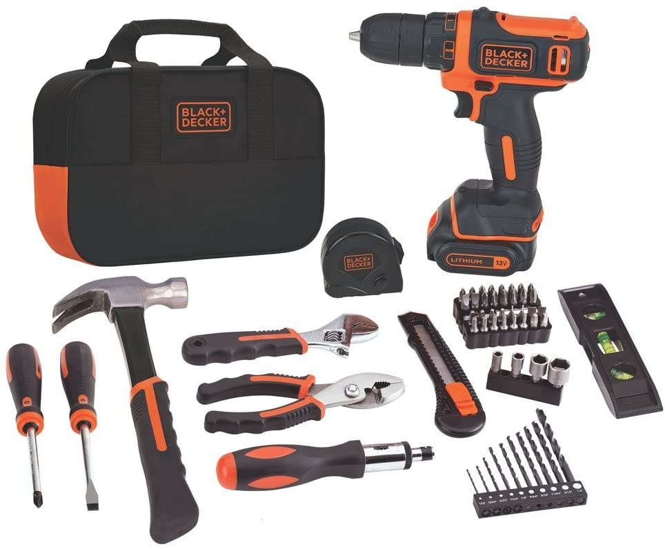 the complete 60 piece black and decker tool kit