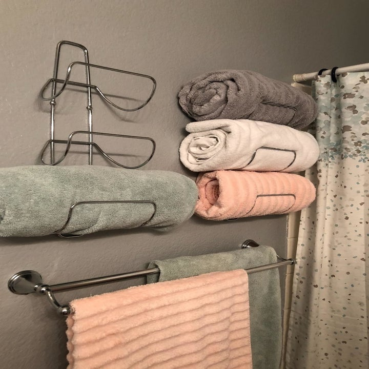 reviewer photo showing towel racks