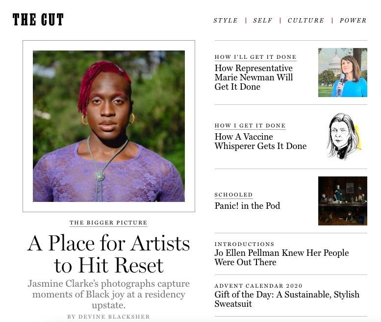 Screenshot of New York Magazine website
