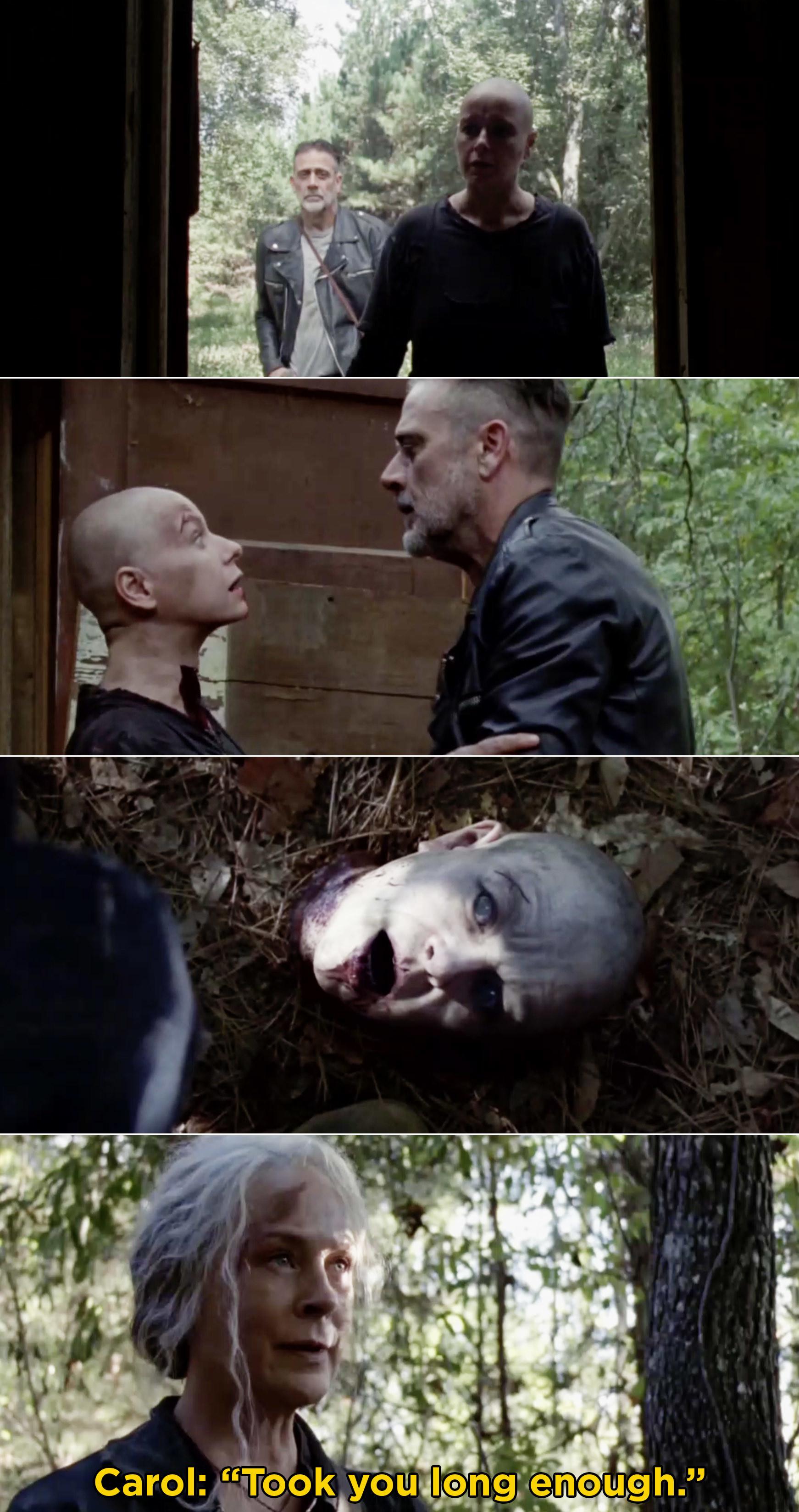Alpha's head lying on the ground as a walker
