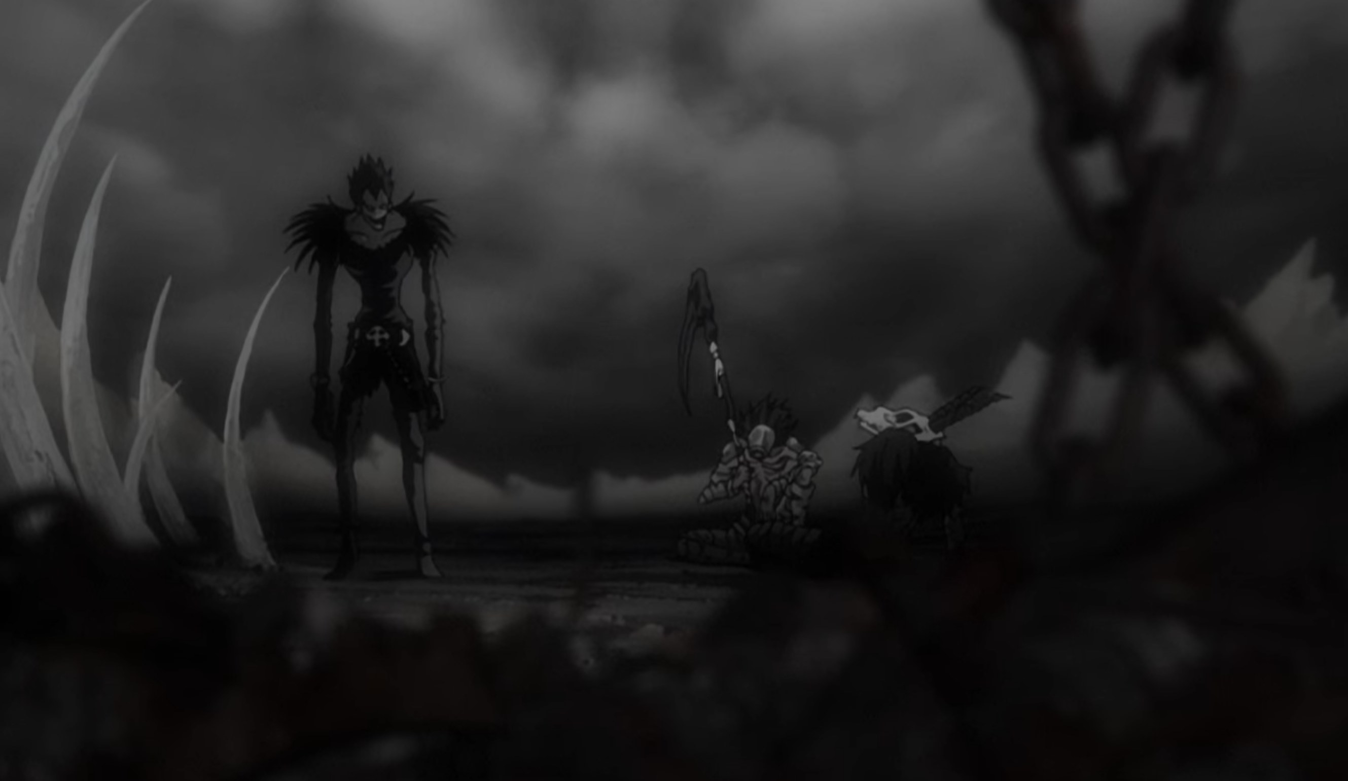 A creepy creature standing around smoke