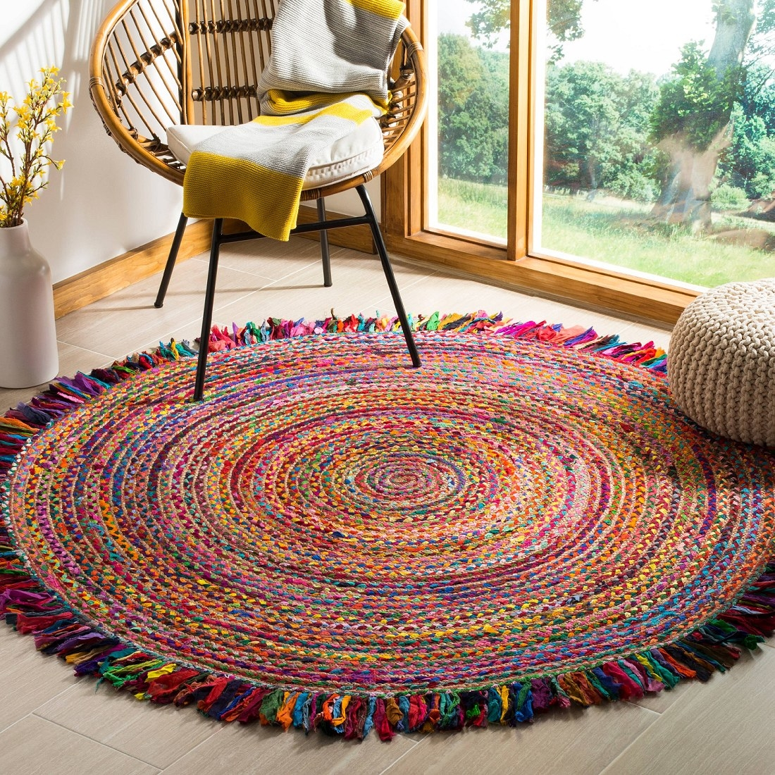 The rug placed in a living room