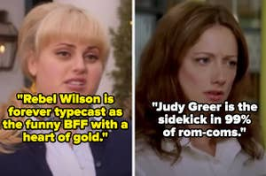 """Rebel Wilson in """"Pitch Perfect"""" and Judy Greer in """"27 Dresses"""""""