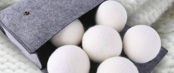 A case with soft balls of wool