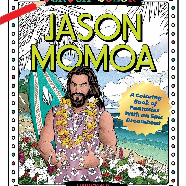 Cover of the Jason Momoa coloring book