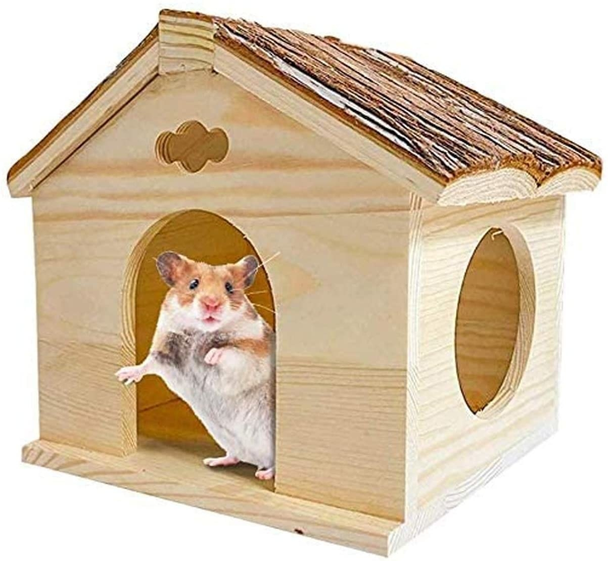 The wooden hamster house