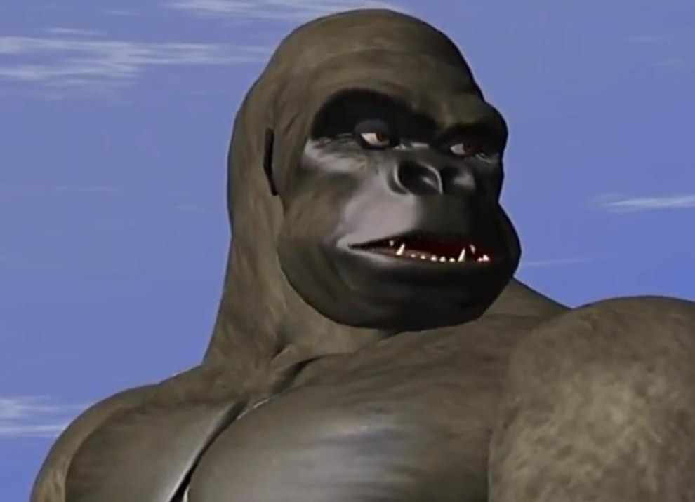 Optimus Primal looking to his right