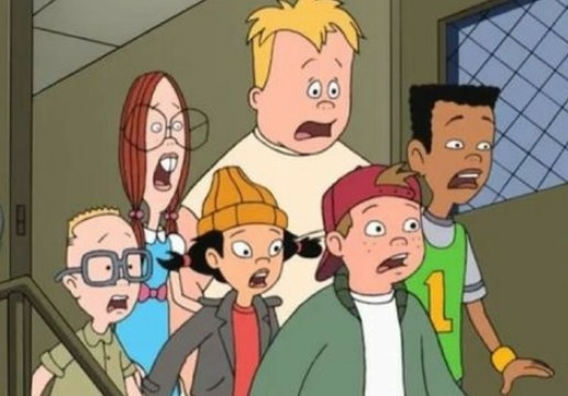 The Recess characters stand together looking shocked