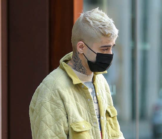 Zayn Malik is seen for the first time in public since the birth of his daughter in New York City.