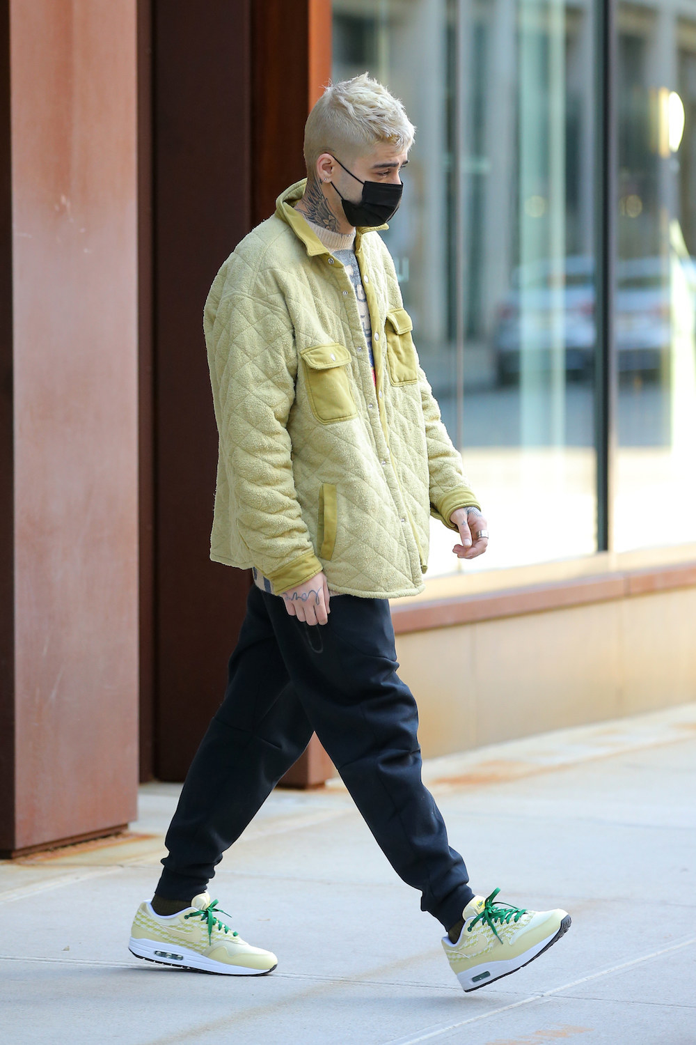Singer Zayn Malik is seen for the first time in public since the birth of his daughter in New York City.