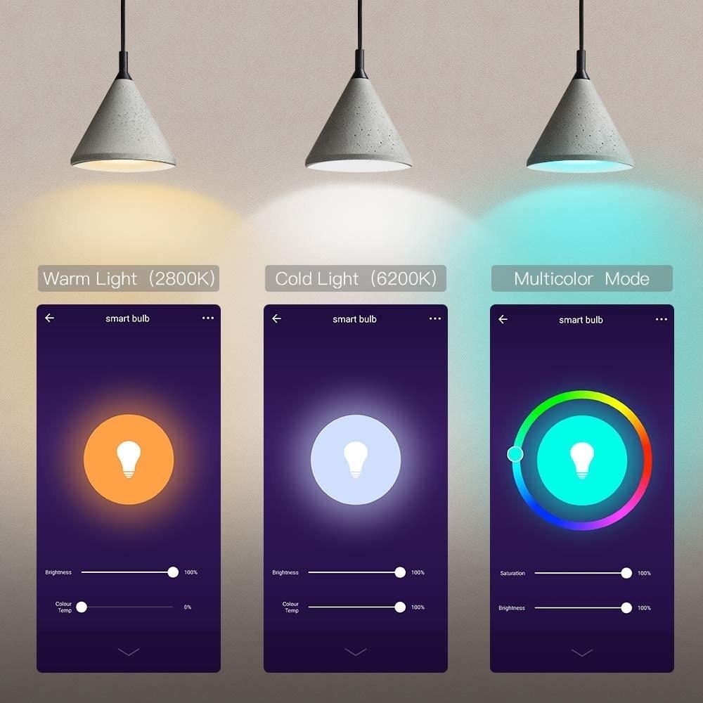 The phone controls underneath three lights